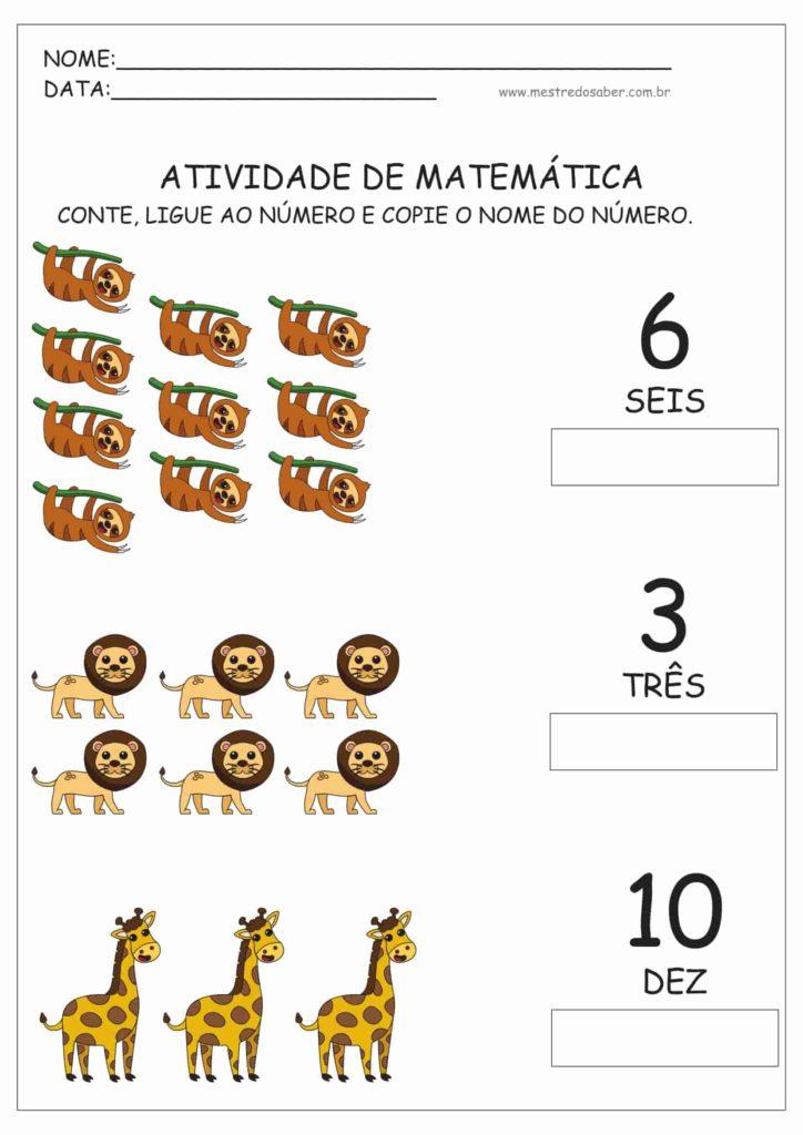 8 - Atividades de Matemática Educação Infantil