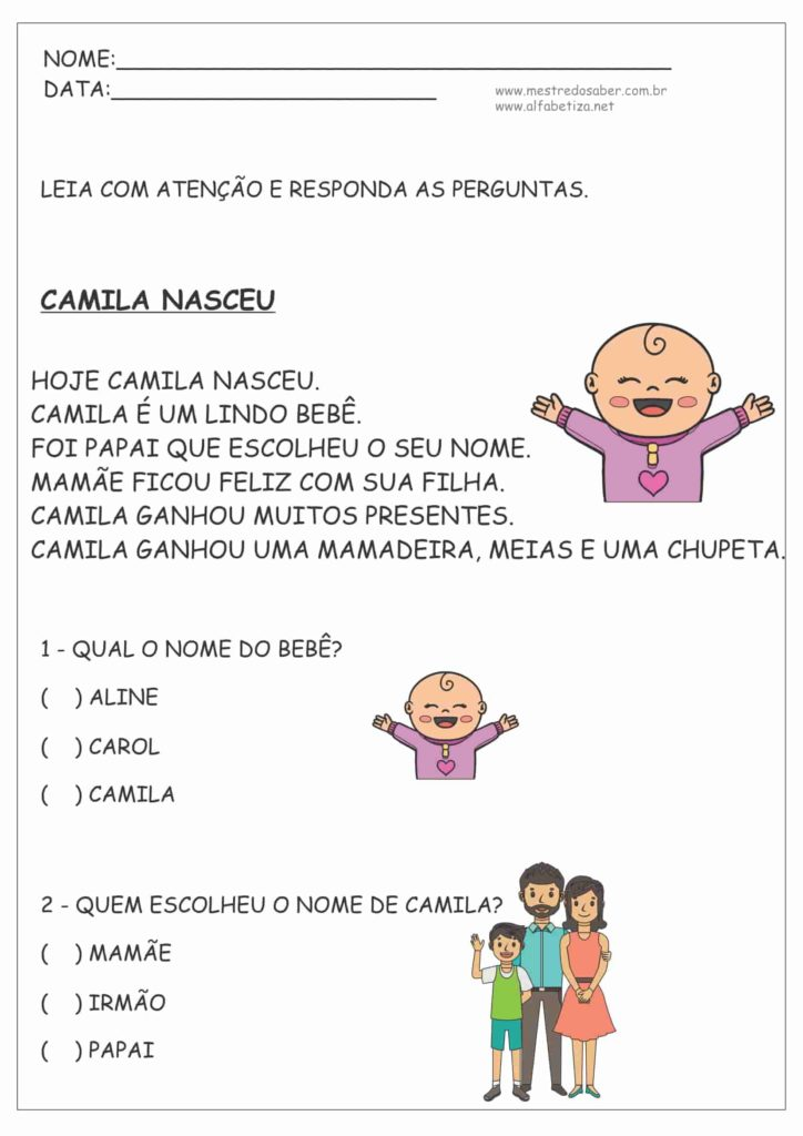 8 - Atividades de Português 2º ano Fundamental