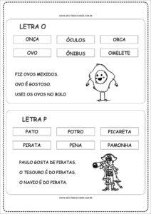 8 - Fichas de Leitura para Alfabetização