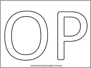 8 - Molde de Letras Grandes para Imprimir