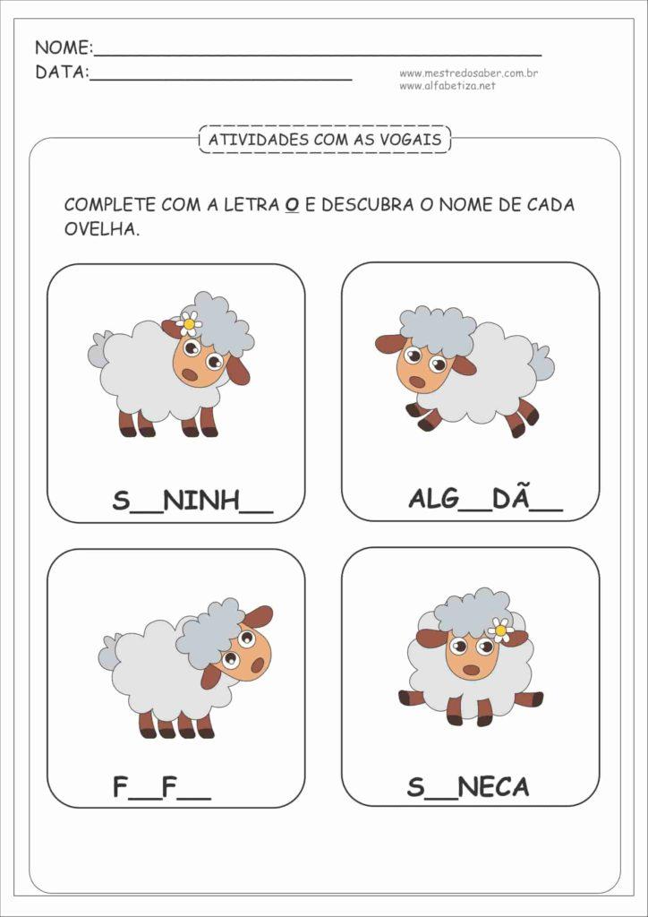 9 - Atividades com as Vogais para Educação Infantil
