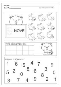 9 - Atividades com Números Educação Infantil