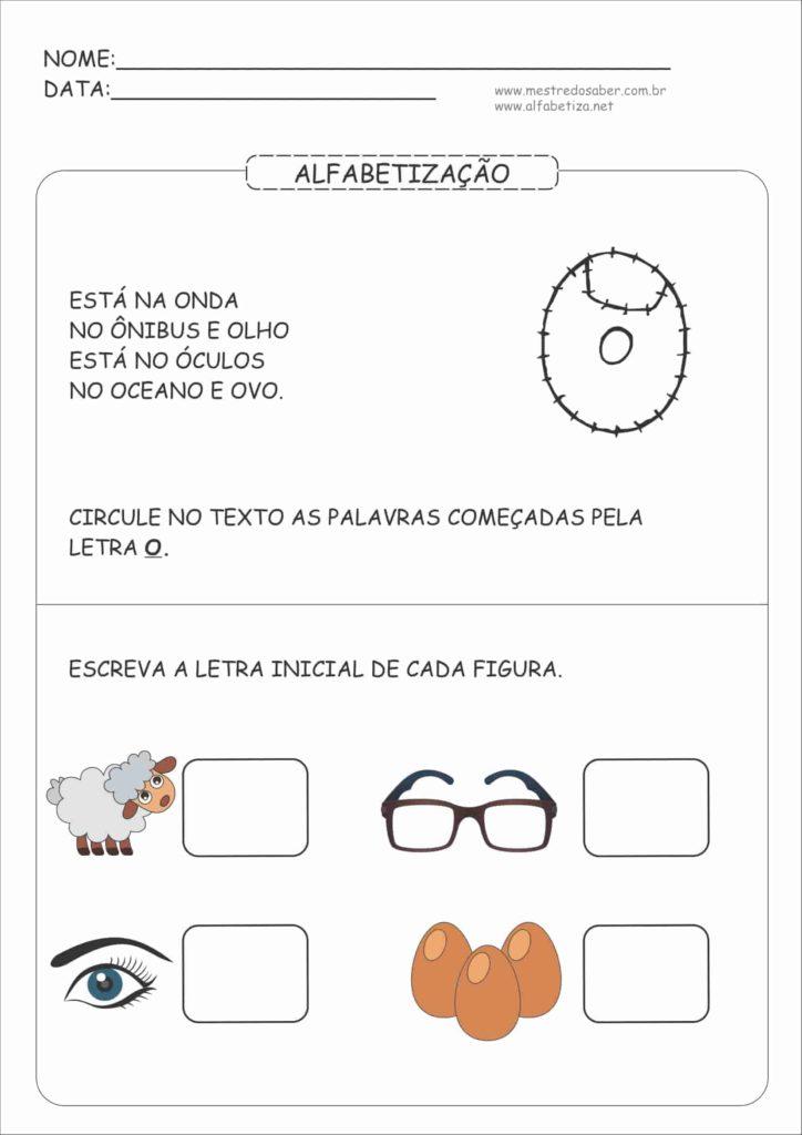 4 - Atividades de Alfabetização para Educação Infantil 5 anos