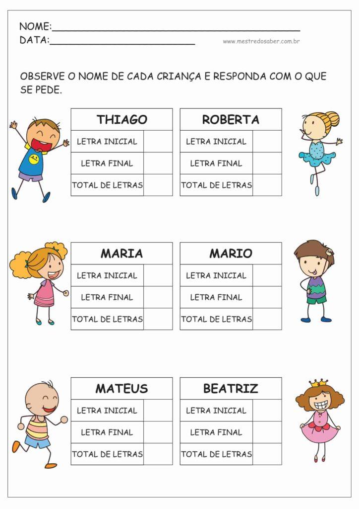 9 - Atividades de Alfabetização para Educação Infantil 5 anos