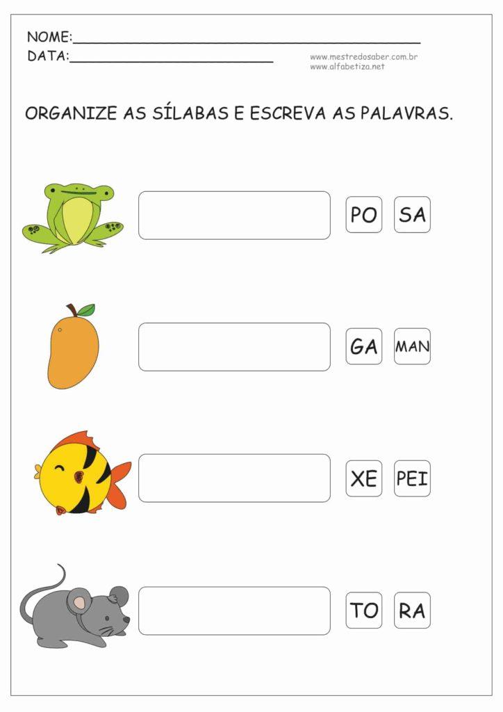 9 - Atividades de Alfabetização Sílabas Simples