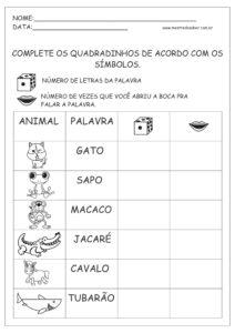 9 - Atividades de Português 1 ano