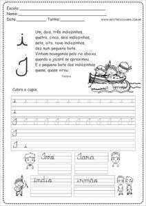 9 - Caderno de Caligrafia letra I