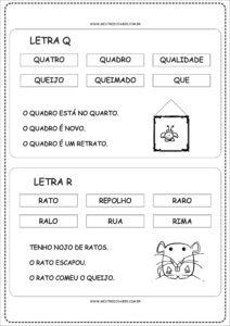 9 - Fichas de Leitura para Alfabetização