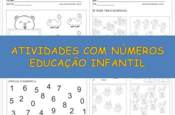 Atividades com Números Educação Infantil