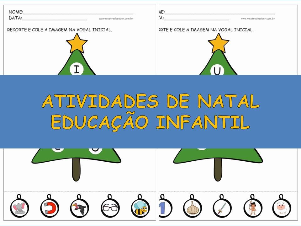 Atividades De Natal Educacao Infantil Mestre Do Saber