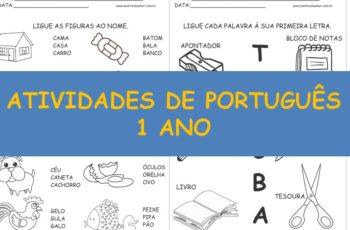 30 Atividades de Português 1 ano
