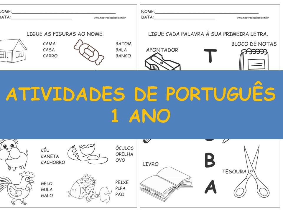 Atividade escrita para educação infantil