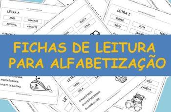 Fichas de Leitura para Alfabetização – De A a Z