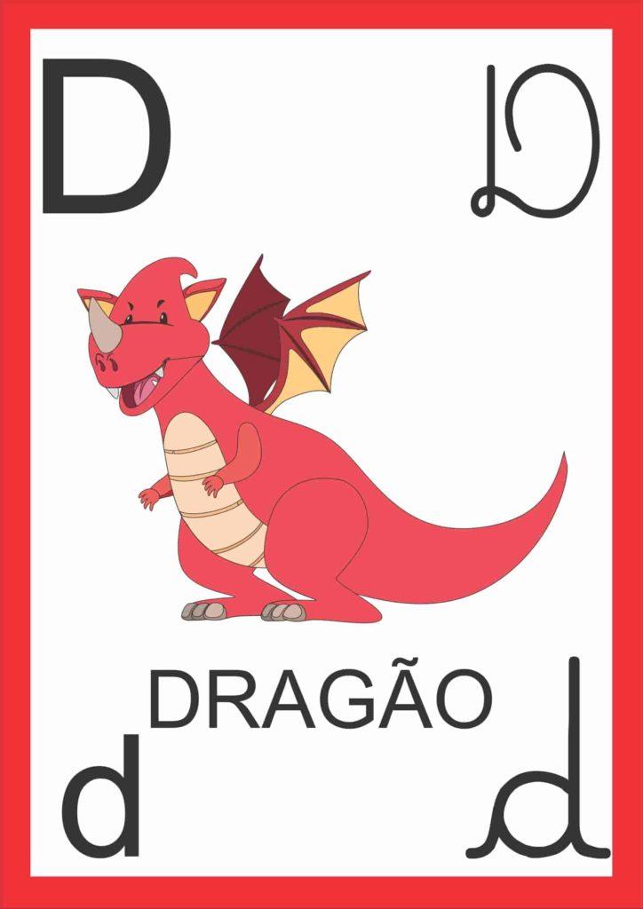Alfabeto de Parede - Letra D