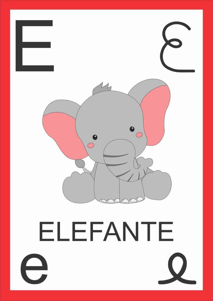 Alfabeto de Parede - Letra E