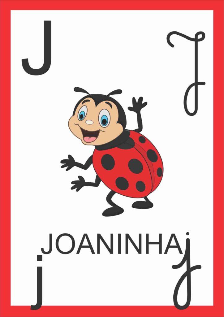 Alfabeto de Parede - Letra J