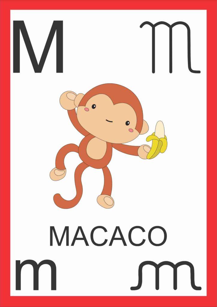 Alfabeto de Parede - Letra M