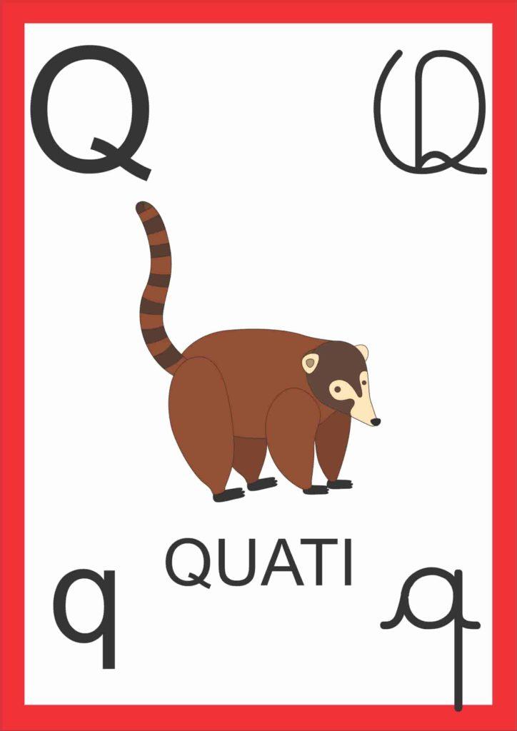 Alfabeto de Parede - Letra Q