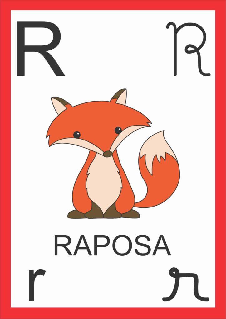 Alfabeto de Parede - Letra R