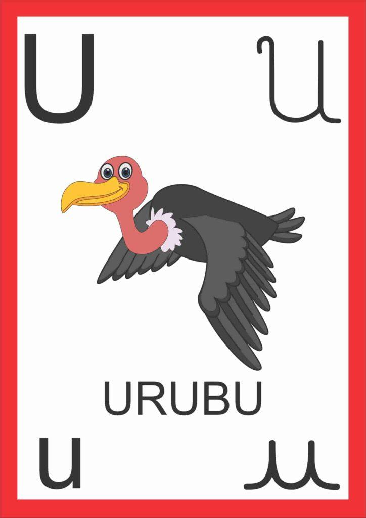 Alfabeto de Parede - Letra U
