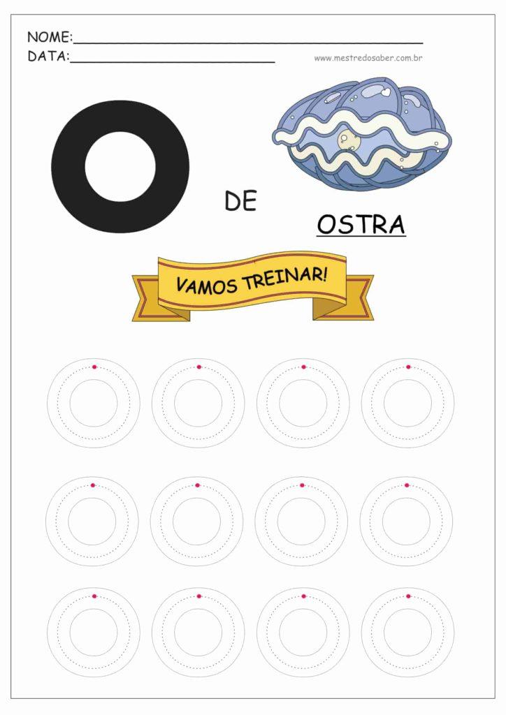 Letra O - Letras do Alfabeto para Imprimir
