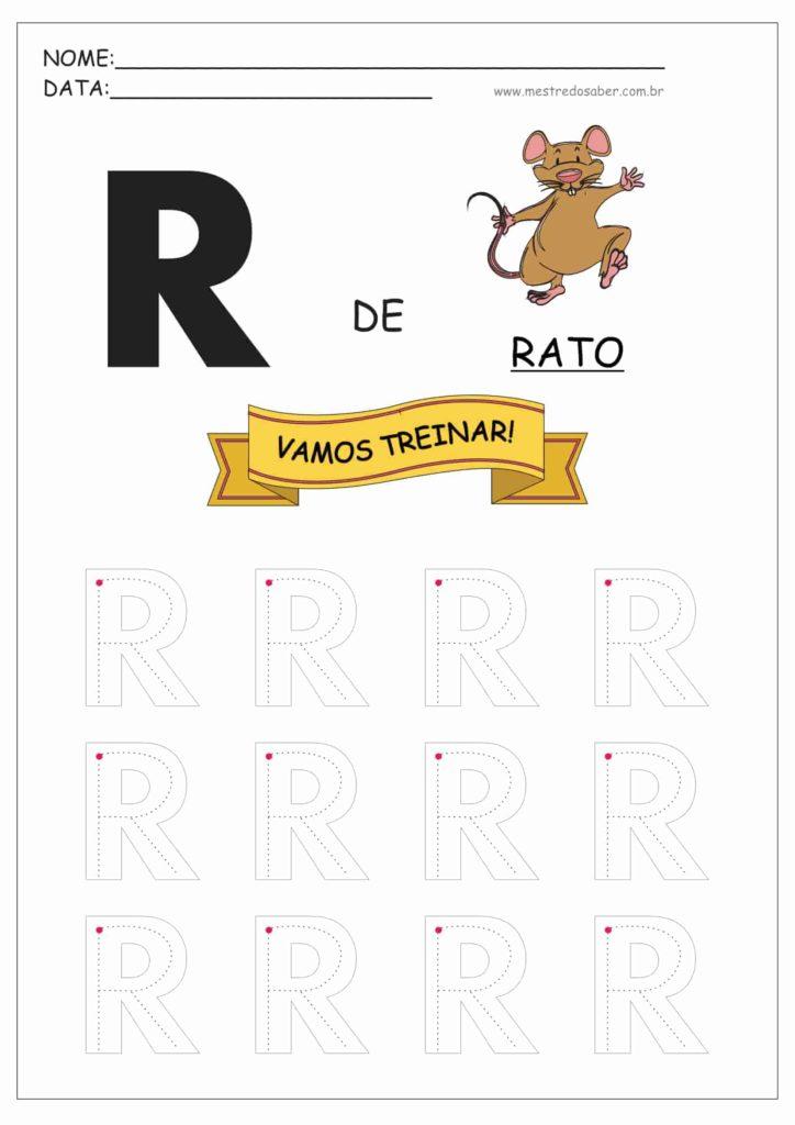 Letra R - Letras do Alfabeto para Imprimir