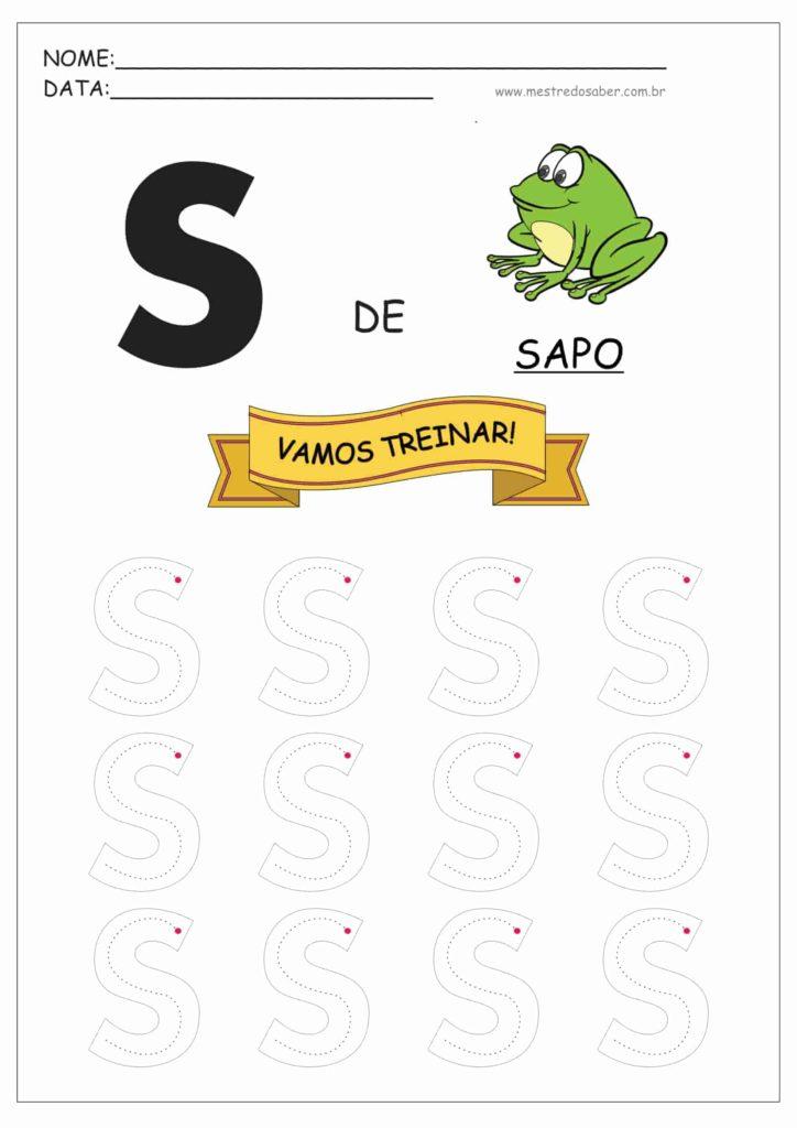 Letra S - Letras do Alfabeto para Imprimir
