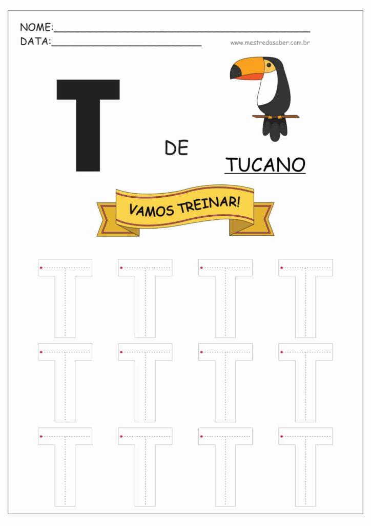 Letra T - Letras do Alfabeto para Imprimir