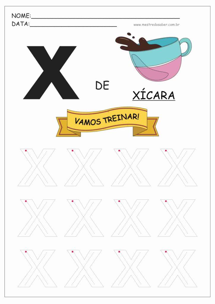 Letra X - Letras do Alfabeto para Imprimir