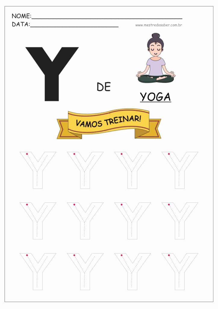 Letra Y - Letras do Alfabeto para Imprimir