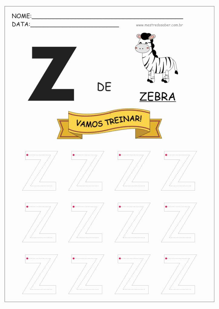 Letra Z - Letras do Alfabeto para Imprimir