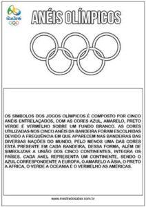 Anéis Olimpícos texto