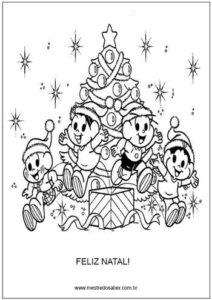 Atividade de Natal para colorir