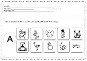 1 - Atividades com Vogais Educação Infantil