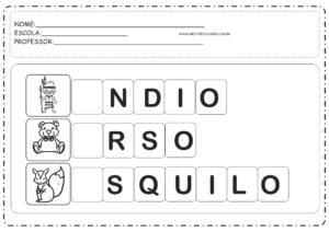 6 - Atividades com Vogais Letra Inicial