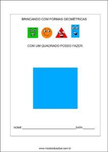 Formas geométricas educação infantil - Quadrado