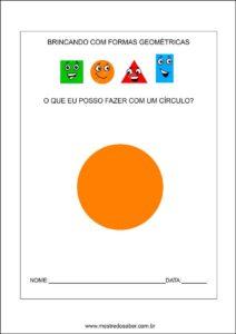 Formas geométricas educação infantil - circulo