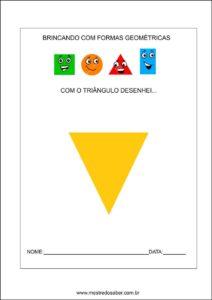 Formas geométricas educação infantil - Triângulo