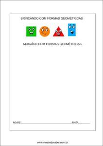 formas geométricas educação infantil - Mosaico