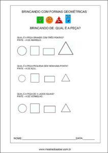 formas geométricas educação infantil - qual é a forma geométrica