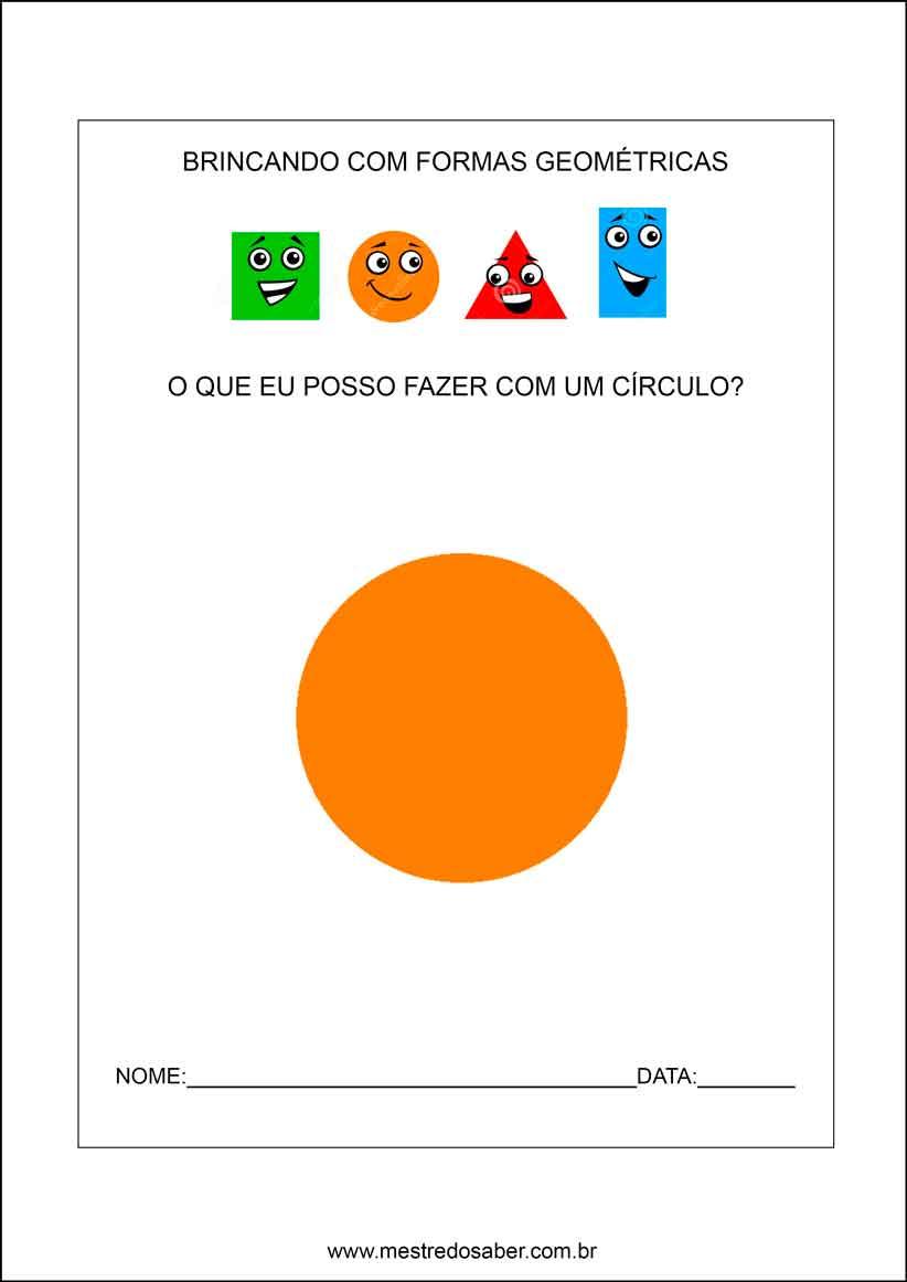 Populares Formas geométricas Educação infantil - Mestre do Saber AJ14