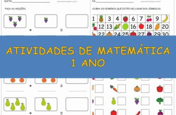 Atividades de Matemática 1 ano