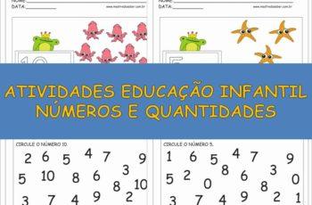 Atividades Educação Infantil Números e Quantidades