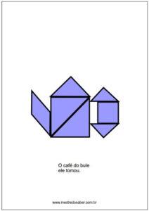 desenhos de tangram