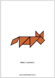 animais de tangram