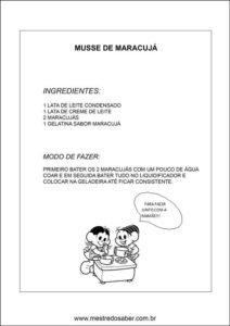 Caderno de receitas para o dia das mães - Receita 2
