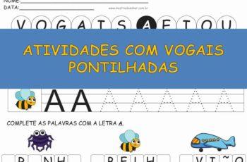 Atividades com Vogais Pontilhadas