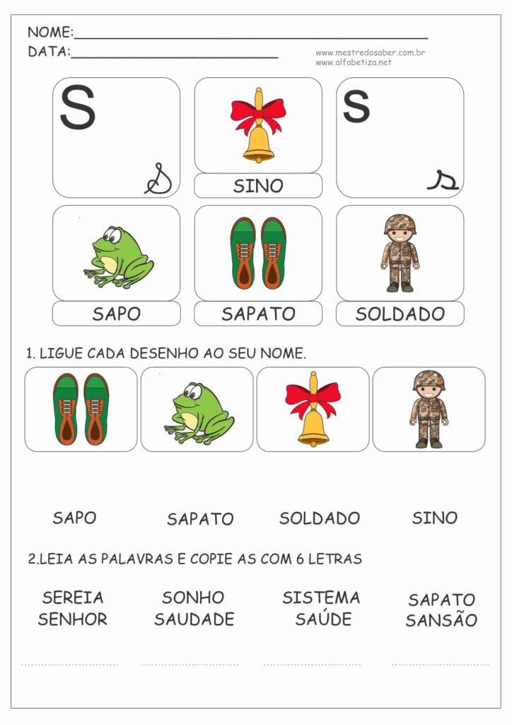 6 - Cartilha de Alfabetização 1 ano Letra S