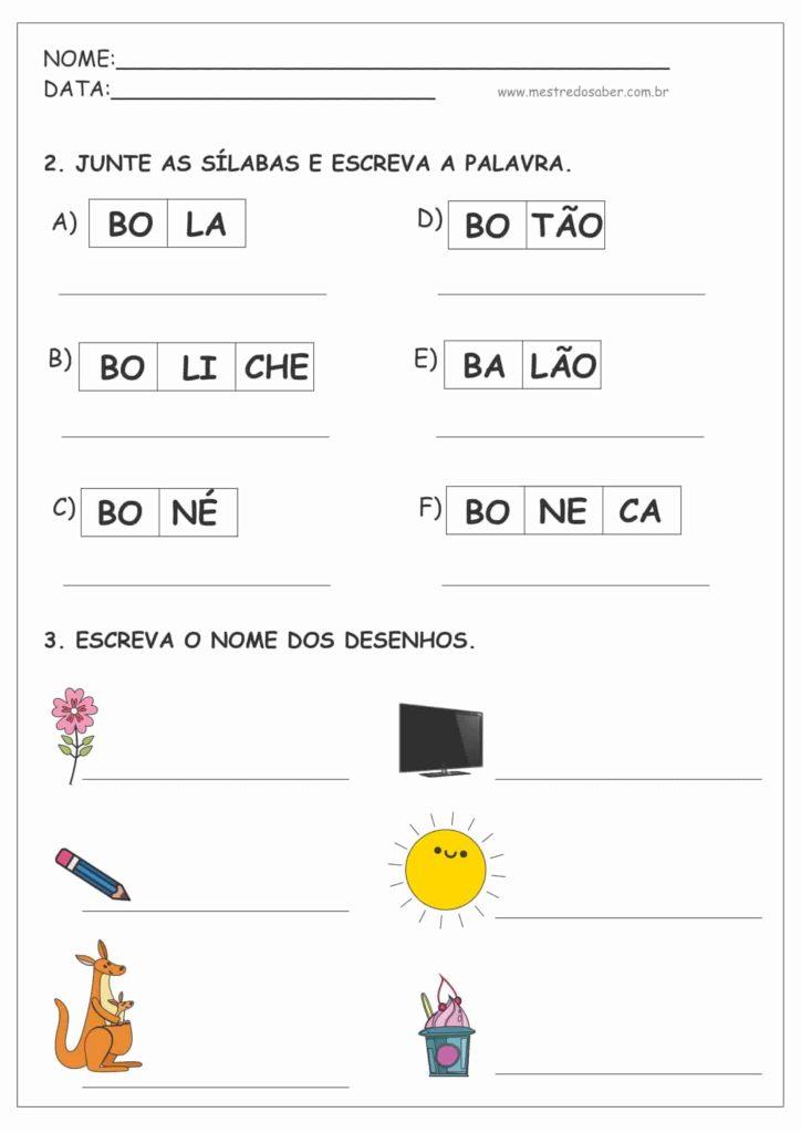 2 - Cartilha de Alfabetização Letra Bastão para Imprimir
