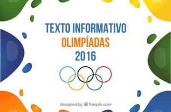 Textos Informativos sobre Olimpíadas Rio 2016